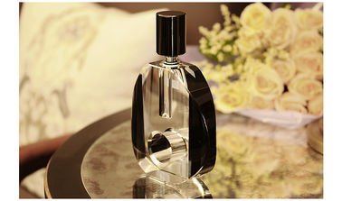 3ml-6ml crystal perfume glass  bottle  with many colors and screw  cap